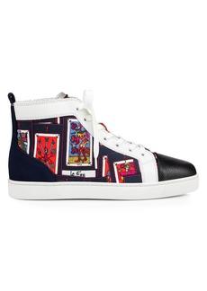 Christian Louboutin Orlato Tarot-Print High-Top Sneakers