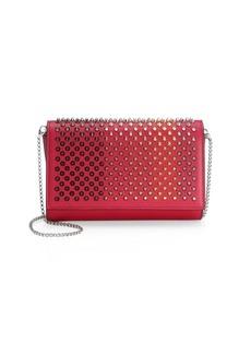 Christian Louboutin Paloma Empire Spike Leather Shoulder Bag