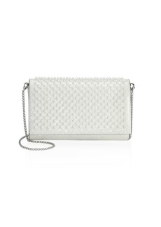 Christian Louboutin Paloma Patent Coquillage Leather Shoulder Bag
