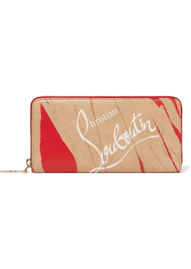 80881b2fa1 Christian Louboutin Panettone Kraft Printed Leather Continental Wallet