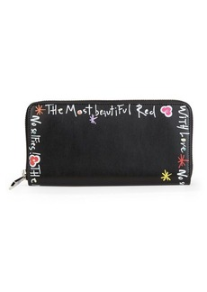 Christian Louboutin Panettone Writing Leather Wallet