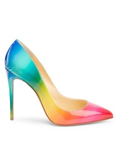 Christian Louboutin Pigalle Follies 100 Rainbow Patent Leather Pumps