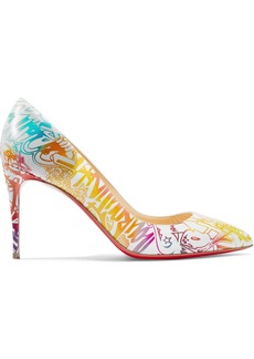 Christian Louboutin Pigalle Follies 85 Printed Leather Pumps