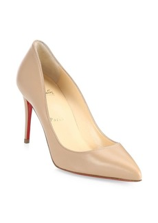 Christian Louboutin Pigalle Follies 85 Leather Point Toe Pumps