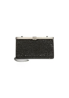 Christian Louboutin Small Palmette Beaded Clutch