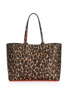 Christian Louboutin Small Cabata Leopard-Print Leather Tote