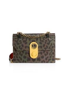 Christian Louboutin Small Elisa Leopard-Print Shoulder Bag