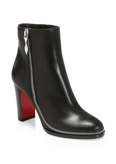Christian Louboutin Telezip Leather Ankle Boots