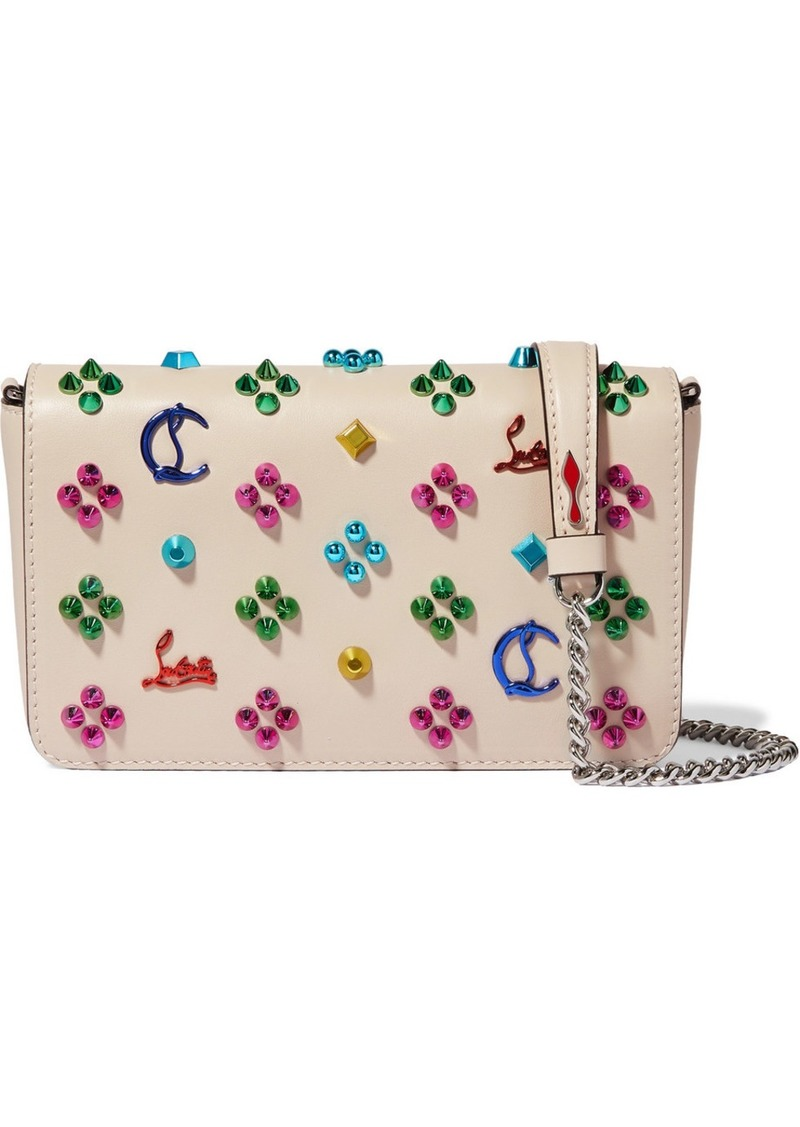 Christian Louboutin Zoompouch Studded Leather Shoulder Bag