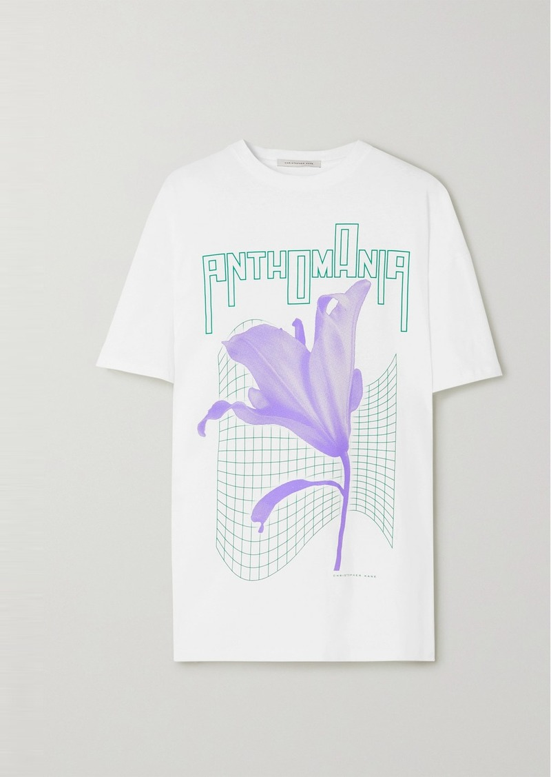 Christopher Kane Anthomania Oversized Printed Cotton-jersey T-shirt