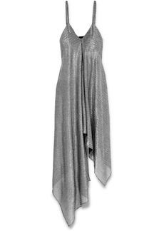 Christopher Kane Asymmetric Lamé Dress