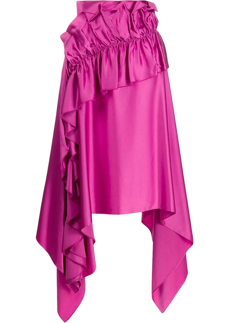 Christopher Kane asymmetric ruffle trim skirt