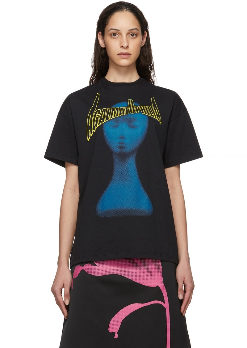 Christopher Kane Black 'Agalmatophilia' T-Shirt