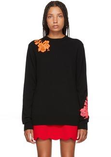Christopher Kane Black Cashmere Flower Sweater
