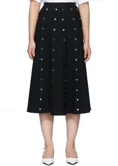 Christopher Kane Black Crepe Snap Skirt