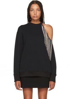 Christopher Kane Black Crystal Cut-Out Sweatshirt