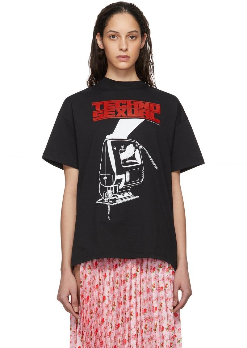 Christopher Kane Black 'Techno Sexual' T-Shirt