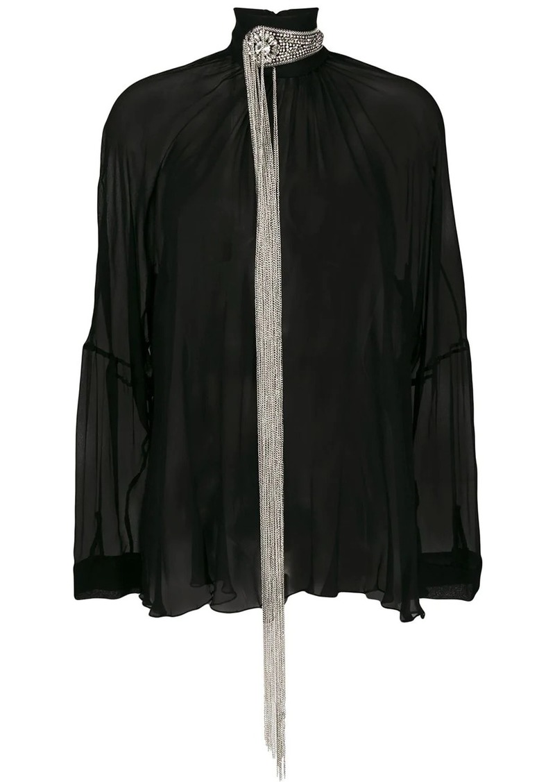 Christopher Kane chain fringe blouse