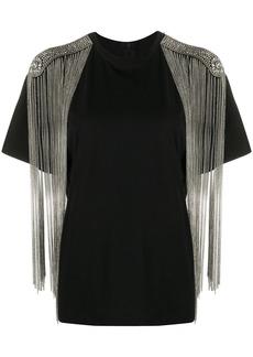 Christopher Kane chain fringe T-shirt