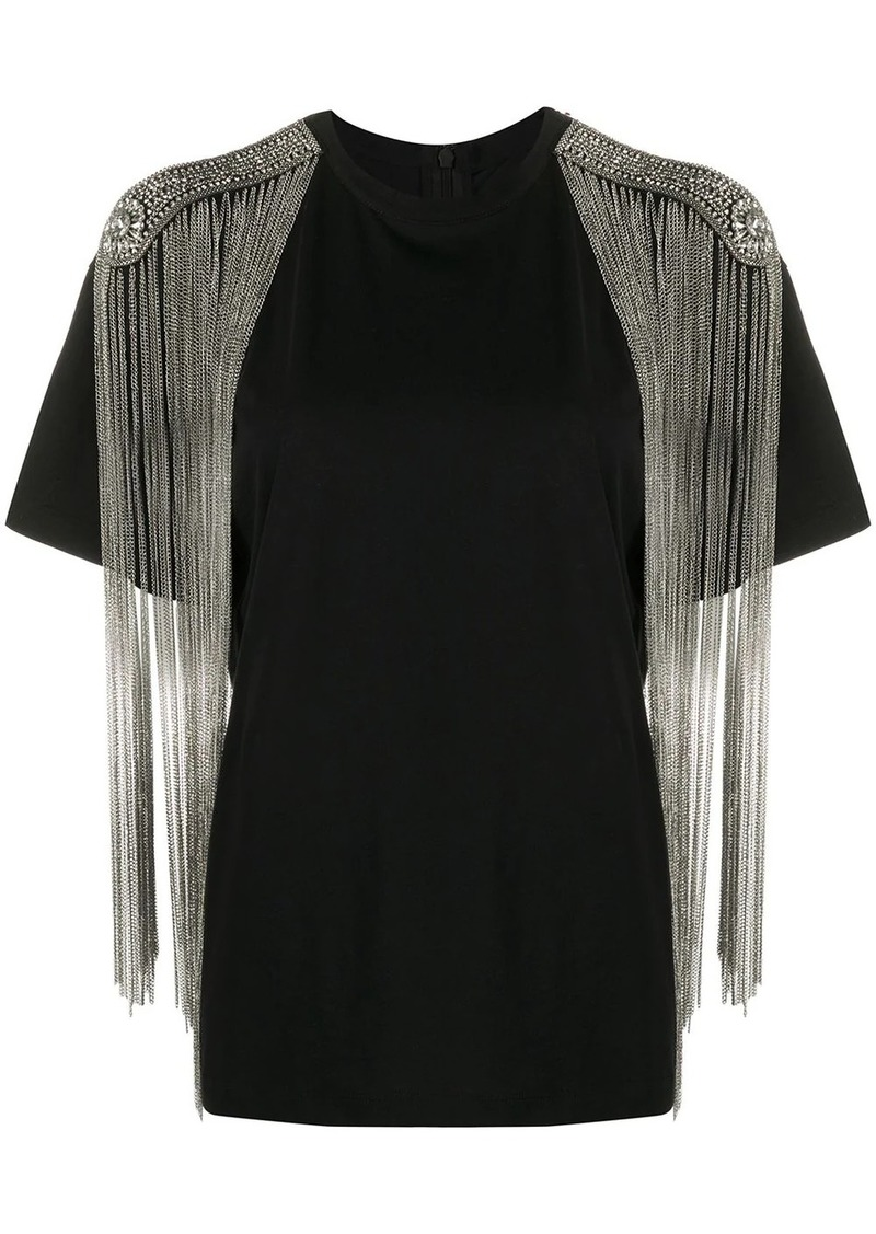 Christopher Kane chain fringe T-shirt