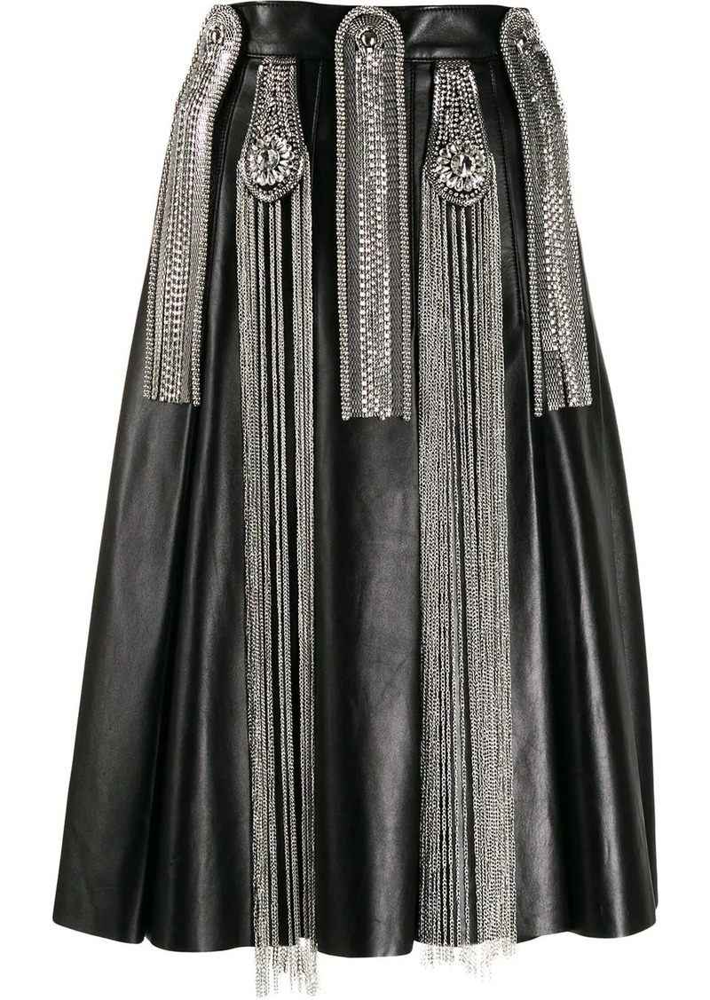 Christopher Kane chain leather skirt