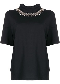 Christopher Kane chain tie neck blouse