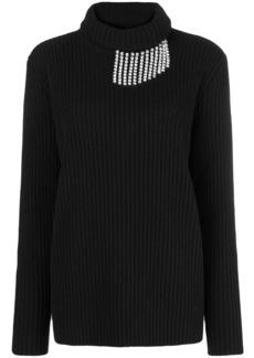 Christopher Kane crystal chain trim sweater