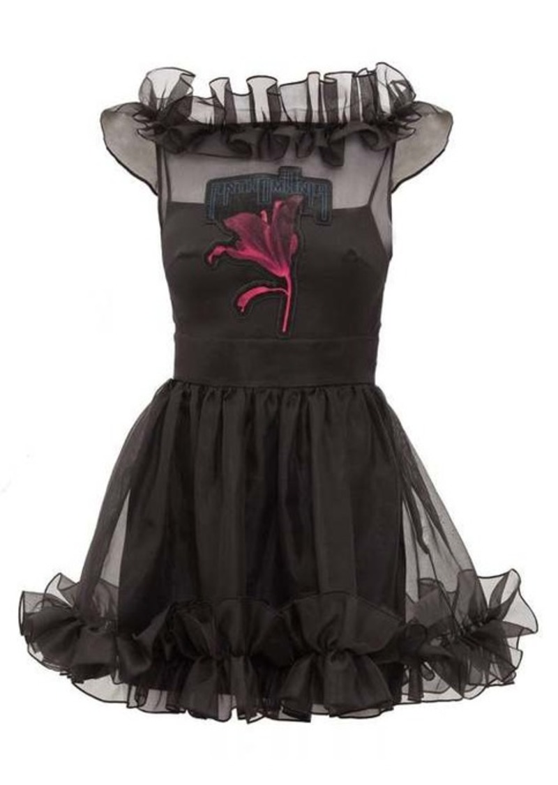 Christopher Kane Anthomania ruffled silk-organza mini dress