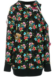 Christopher Kane archive floral cut-out hoodie dress
