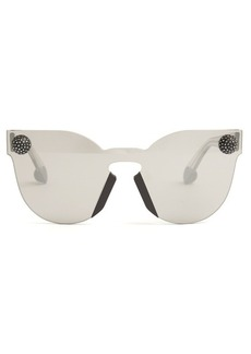 Christopher Kane Bumper rimless cat-eye sunglasses