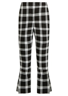 Christopher Kane Checked wool-blend cropped trousers