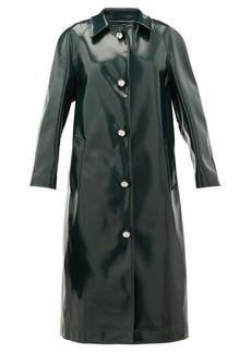 Christopher Kane Coated jersey crystal-embellished coat