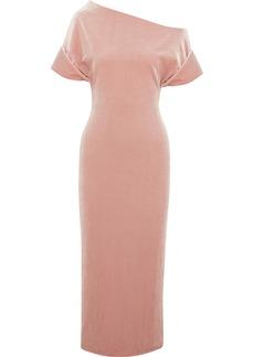 Christopher Kane Cold-shoulder Stretch-velvet Midi Dress