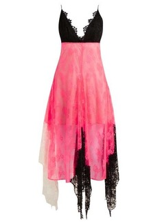 Christopher Kane Colour-block lace cami dress