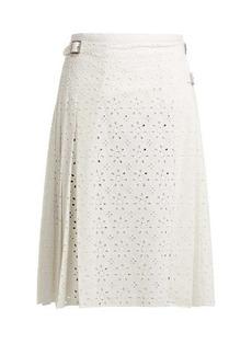 Christopher Kane Cotton broderie-anglaise kilt skirt