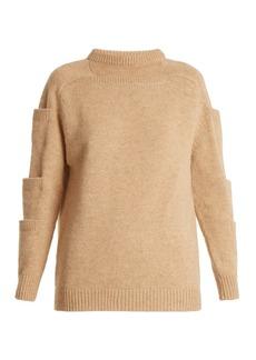 Christopher Kane Crew-neck pocket-detail wool sweater