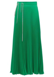 Christopher Kane Crystal cup-chain pleated skirt