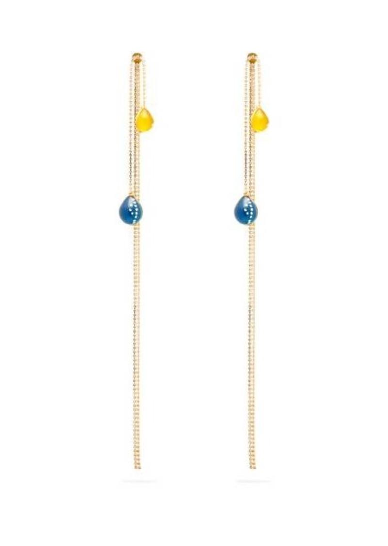 Christopher Kane Crystal-embellished balloon earrings