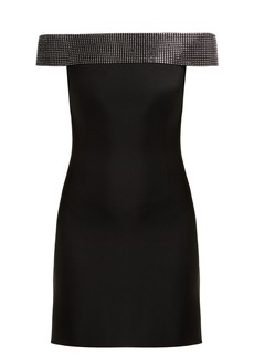 Christopher Kane Crystal-embellished cady mini dress