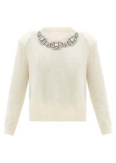 Christopher Kane Crystal-embellished cashmere-blend sweater