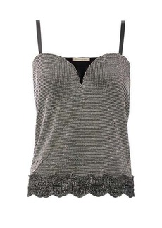 Christopher Kane Crystal-embellished chainmail top