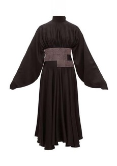 Christopher Kane Crystal-embellished charmeuse dress