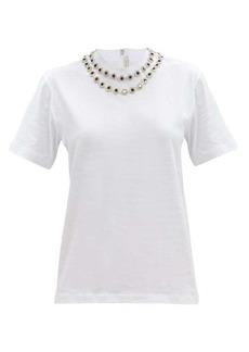 Christopher Kane Crystal-embellished cotton-jersey T-shirt