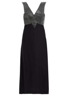 Christopher Kane Crystal-embellished crepe midi dress