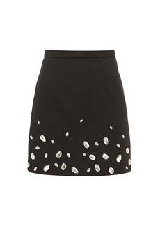 Christopher Kane Crystal-embellished crépe mini skirt