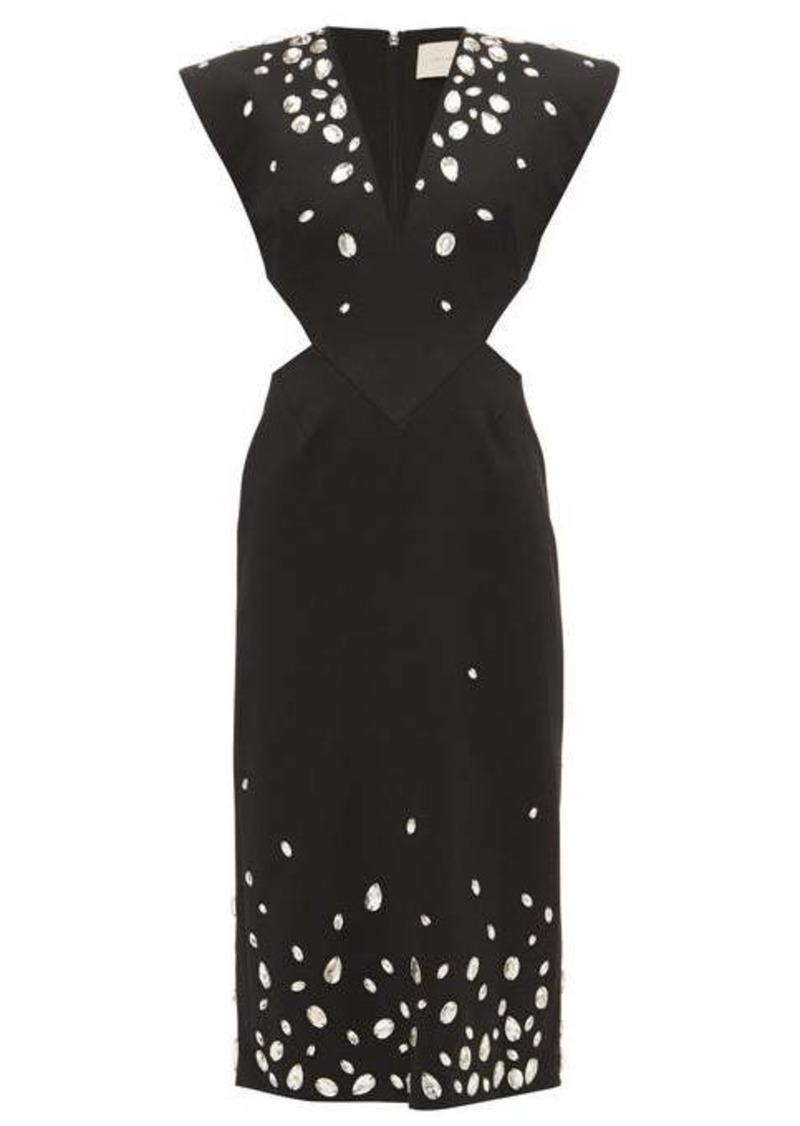 Christopher Kane Crystal-embellished cut-out crépe dress