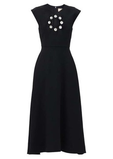 Christopher Kane Crystal-embellished cut-out midi dress