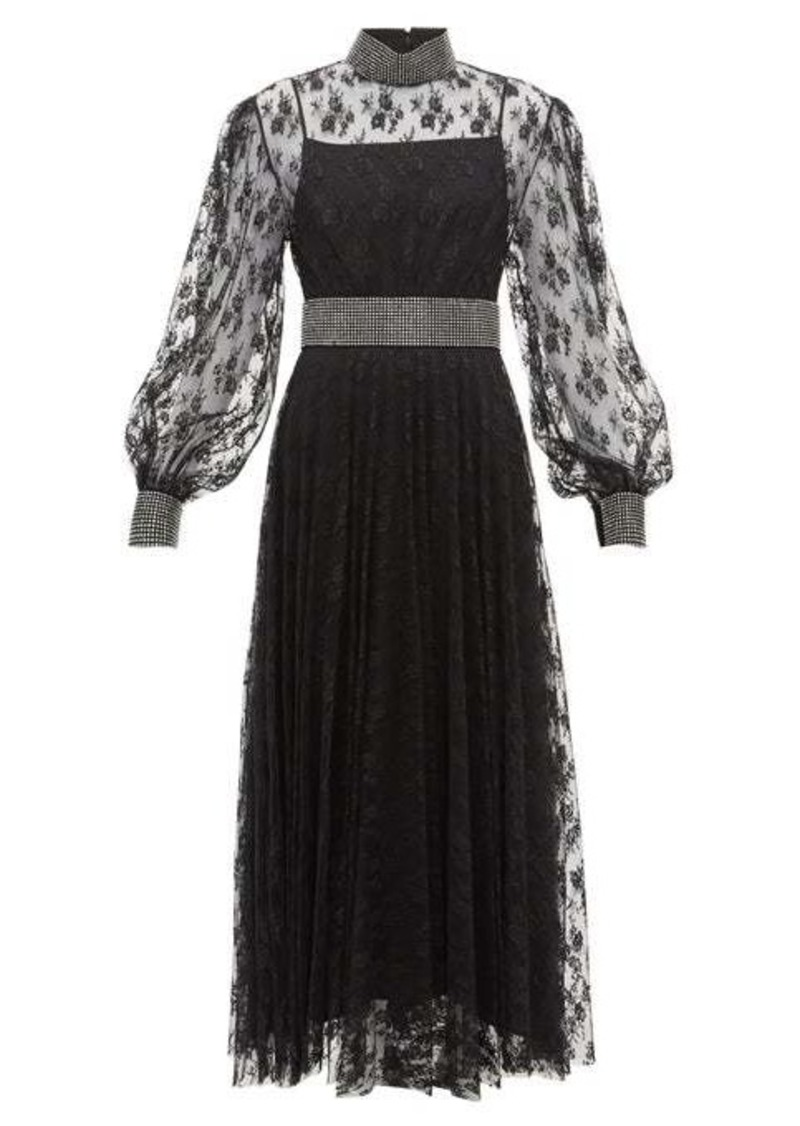 Christopher Kane Crystal-embellished floral-lace dress