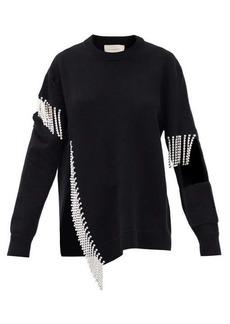 Christopher Kane Crystal-embellished keyhole wool sweater