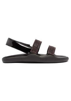 Christopher Kane Crystal-embellished leather slingback sandals